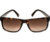 Brillen Sonnenbrille, Metall-Kunststoff, dunkelbraun-berstein mamoriert
