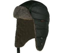 Mütze Baumwolle gewachst dunkeloliv
