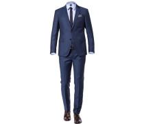 Anzug, Slim Fit, Schurwolle Super100, navy