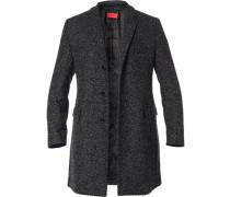 Mantel Parka Woll-Mix meliert