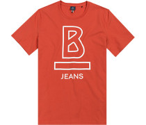 T-Shirt Baumwolle korallenrot