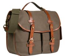 Tasche Messenger Bag Baumwoll-Canvas oliv