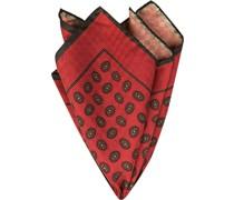 Accessoires Einstecktuch Seide rot gemustert