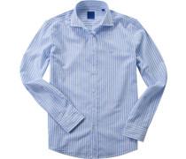 Hemd Batist hellblau-weiß gestreift