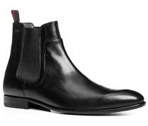 Herren Schuhe Chelsea Boot Leder schwarz schwarz,grau