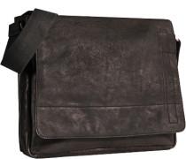 Tasche Umhängetasche Leder schwarz