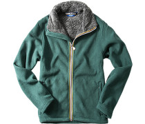 Fleece-Jacke Slim Fit Microfaser petrol
