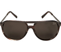 Herren Brillen  Sonnenbrille Metall-Kunststoff braungrau-grau