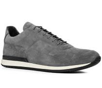 Herren Schuhe Sneaker Veloursleder hellgrau grau,schwarz
