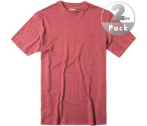 T-Shirt Regular Fit Baumwolle marsala meliert