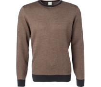 Pullover Wolle ockergelb gemustert