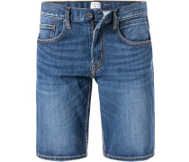 Jeansshorts, Regular Fit, Baumwoll-Stretch