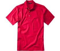 Polo-Shirt Polo Baumwoll-Jersey feuerrot