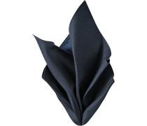 Accessoires Einstecktuch Microfaser rauchblau-schwarz gemustert