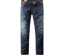 Jeans Straight Fit Baumwoll-Stretch 9,5 oz jeansblau