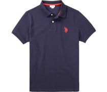 Polo-Shirt Polo Baumwoll-Piqué marineblau