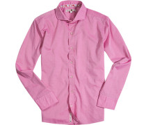 Hemd Chambray pink meliert