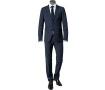 Herren Anzug Extra Slim Fit Schurwoll-Mix mit Stretch nachtblau