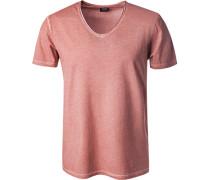 T-Shirt, Baumwolle, marsala