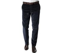 Herren Hose Cordhose Contemporary Fit Baumwoll-Stretch marineblau