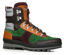 Herren Schuhe Boot Leder-Textil warm gefüttert multicolor multicolor,rot