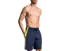 Unterwäsche Shorts, Microfaser, navy-gelb