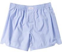 Unterwäsche Boxer-Shorts Baumwolle hellblau kariert