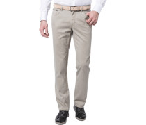 Jeans Seth Tailored Fit Baumwoll-Stretch greige