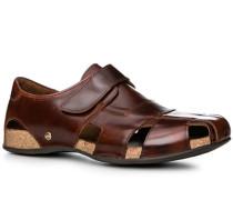 Schuhe Sandalen Glattleder haselnussbraun