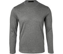 T-Shirt Longsleeve Baumwolle-Kaschmir meliert