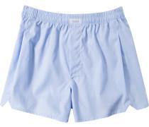 Unterwäsche Boxer-Shorts Baumwolle hellblau meliert