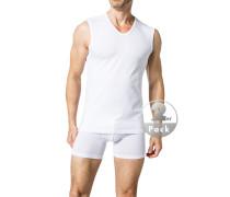 Herren Unterwäsche Tanktop Baumwoll-Stretch weiß
