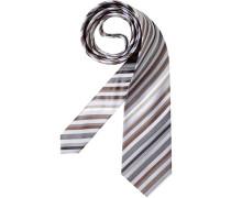 Herren Krawatte  braun,grau
