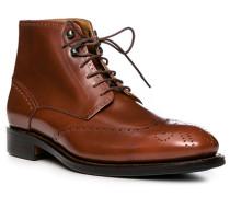 Schuhe Stiefeletten, Kalbleder, cognac