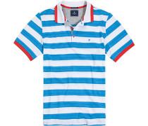 Polo-Hemd Baumwolle -weiß gestreift