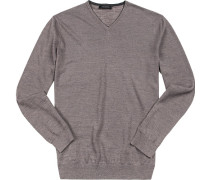 Pullover Baumwolle schiefergrau meliert