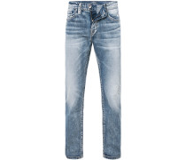 Jeans, Slim Fit, Baumwolle, jeansblau