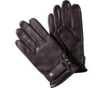Herren POLO RALPH LAUREN Handschuhe Leder braun