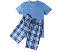Schlafanzug Pyjama Baumwolle