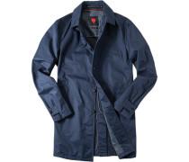 Mantel Baumwolle marineblau