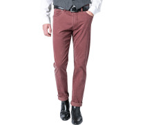 Blue-Jeans Regular Fit Baumwoll-Stretch rotbraun