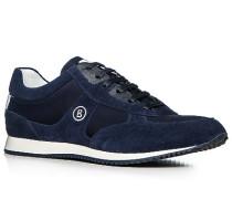 Herren Schuhe Sneaker Veloursleder nachtblau blau,weiß