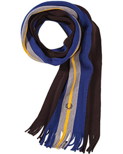 Schal, Wolle, braun- gestreift