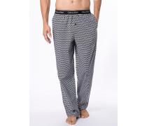 Schlafanzug Pyjamahose, Baumwolle, gemustert