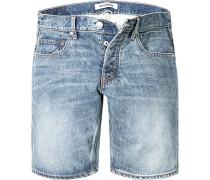 Herren Jeans Shorts Straight Fit Baumwolle denim blau