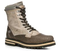 Herren Schuhe Boot Leder warm gefüttert beige-khaki beige,beige,grau