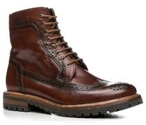 Schuhe Boots Leder cognac