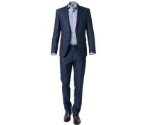Anzug, Modern Fit, Schurwolle, marineblau meliert