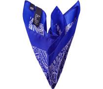 Herren Accessoires  Einstecktuch Seide paisley blau