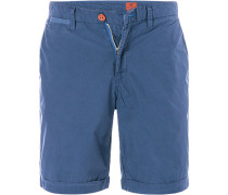 Hose Shorts Regular Fit Baumwolle gestreift
